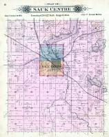 Sauk Centre Township, McCormic Lake, Cedar Lake, Stearns County 1896 published by C.M. Foote & Co